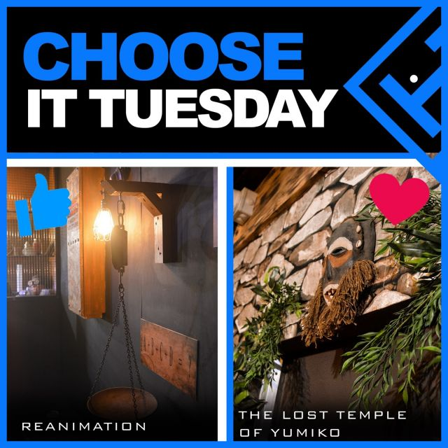 ❓ Choose it Tuesday 🧐  Thumbs up for Reanimation or use the heart emoji for The Lost Temple of Yumiko? Which one would you pick and why?   Finding it hard to pick? Check out both options on our website www.trappd.com 😎