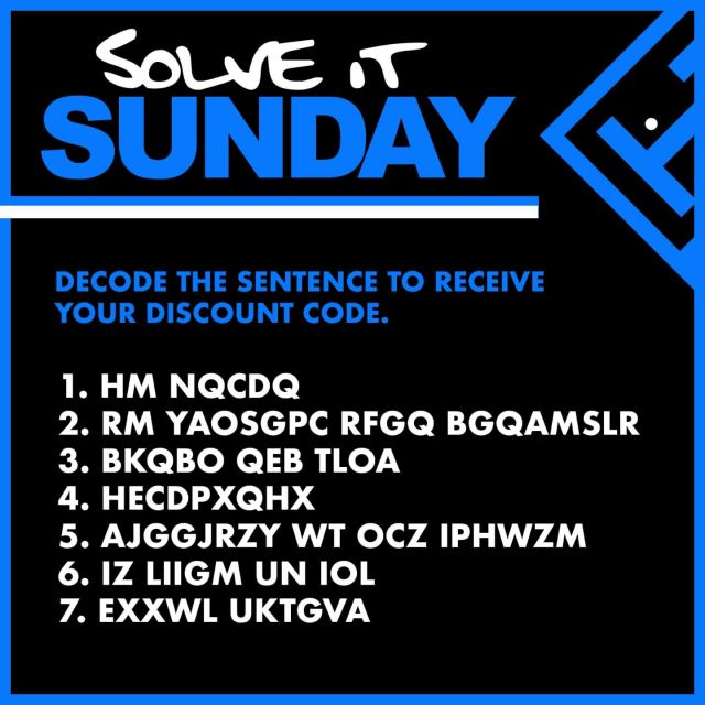 🕵️ SOLVE IT SUNDAY 🤓   Test your knowledge with this weeks Solve it Sunday! Get 50% OFF any escape room with the secret code hidden within the puzzle!  Think you have the right answer? Enter it into our website www.trappd.com at checkout to find out.  TERMS: This offer can not be used in conjunction with any of our existing offers. The discount code will expire at midnight on Halloween. Terms and conditions apply. Good luck!  #solveitsunday #escaperoom #puzzle